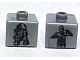Gear No: bead004pb058  Name: Bead, Square with SW C-3PO and R2-D2 Pattern