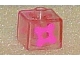 Gear No: bead004pb038  Name: Bead, Square with Four Petal Flower Pattern on two sides
