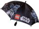 Gear No: 1011498  Name: Umbrella, Black with Captain Rex, Bricks and LEGO Star Wars Logo Pattern