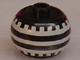 Gear No: bead003pb023  Name: Bead, Globular with White Tire Tread Pattern (from P1546)