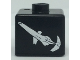 Gear No: bead004pb087  Name: Bead, Square with SW Sith Infiltrator Pattern