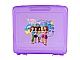 Gear No: 499380  Name: LEGO Project Case Friends 'Beauty of Building', Trans Light Purple (includes 32 x 32 Baseplate)