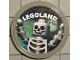 Gear No: pin213  Name: Pin, Legoland Skeleton 2 Piece Badge