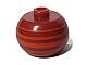 Gear No: bead003pb038  Name: Bead, Globular with Orange Horizontal Stripes Pattern