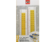Gear No: 52394  Name: Ruler, Buildable Ruler - Yellow Plates with Blue Baseplates