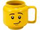 Gear No: 853910  Name: Food - Cup / Mug, Ceramic Minifigure Head