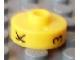 Gear No: bead001pb50  Name: Bead, Cylinder Short, Flat Edge with Black K 3 P Pattern