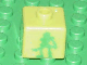 Gear No: bead004pb043  Name: Bead, Square with Bionicle Lewa Nuva Pattern