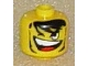 Gear No: bead006pb09  Name: Bead, Cylinder Large with Minifig Head Pattern, Open Mouth and Teeth, One Closed Eye