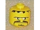 Gear No: bead006pb10  Name: Bead, Cylinder Large with Minifig Head Pattern, Thin Moustache, Goatee, Connected Eyebrow