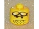 Gear No: bead006pb12  Name: Bead, Cylinder Large with Minifigure Head Pattern, Sunglasses on Forehead, Stubble
