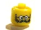 Gear No: bead006pb16  Name: Bead, Cylinder Large with Minifigure Head Pattern, Head Glasses with Round Glasses, Beard and Moustache