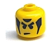 Gear No: bead006pb24  Name: Bead, Cylinder Large with Minifig Head Pattern, Angry Eyebrows and Sideburns (from P1518)