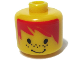 Gear No: bead006pb36  Name: Bead, Cylinder Large with Minifig Head Pattern, Orange Hair and Freckles