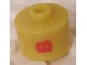 Gear No: bead029pb023  Name: Bead, Cylinder, Flat Edge with Red 'B' Pattern