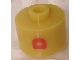 Gear No: bead029pb025  Name: Bead, Cylinder, Flat Edge with Red 'D' Pattern