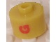 Gear No: bead029pb028  Name: Bead, Cylinder, Flat Edge with Red 'G' Pattern