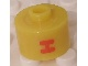 Gear No: bead029pb029  Name: Bead, Cylinder, Flat Edge with Red 'H' Pattern