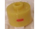 Gear No: bead029pb030  Name: Bead, Cylinder, Flat Edge with Red 'I' Pattern