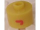 Gear No: bead029pb031  Name: Bead, Cylinder, Flat Edge with Red 'J' Pattern