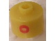 Gear No: bead029pb036  Name: Bead, Cylinder, Flat Edge with Red 'O' Pattern