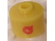 Gear No: bead029pb038  Name: Bead, Cylinder, Flat Edge with Red 'Q' Pattern