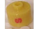 Gear No: bead029pb040  Name: Bead, Cylinder, Flat Edge with Red 'S' Pattern