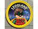 Gear No: pin162  Name: Pin, Legoland Discovery Center Robin 2 Piece Badge