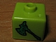 Gear No: bead004pb056  Name: Bead, Square with Bionicle Axe Pattern (P1703)