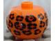 Gear No: bead003pb002  Name: Bead, Globular with Leopard Spots Pattern