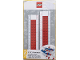 Gear No: 52395  Name: Ruler, Buildable Ruler - Red Plates with Blue Baseplates