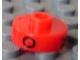 Gear No: bead001pb46  Name: Bead, Cylinder Short, Flat Edge with Black O V B Pattern