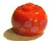 Gear No: bead003pb020  Name: Bead, Globular with Pink Dinosaur Tracks Pattern