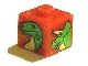 Gear No: bead004pb040  Name: Bead, Square with Bright Green Dinosaur Heads Pattern