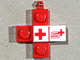 Gear No: pin073  Name: Pin, Cross with Swiss Red Cross Tile - SRK / SSB 1979 Fund Raiser