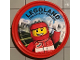 Gear No: pin190  Name: Pin, Legoland Discovery Center Race Car Driver 2 Piece Badge