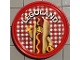 Gear No: pin209  Name: Pin, Legoland Hot Dog Man 2 Piece Badge