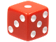 Gear No: x268pb02  Name: Die 6 Sided with Numbers 1 to 6, White Dots