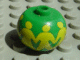 Gear No: bead003pb011  Name: Bead, Globular with Minifigures Holding Hands Pattern