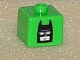 Gear No: bead004pb035  Name: Bead, Square with Batman Head Pattern on Opposite Sides
