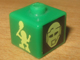 Gear No: bead004pb055  Name: Bead, Square with Bionicle Turaga Matau and Mahiki Pattern (P1703)