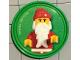 Gear No: pin186  Name: Pin, Santa 2 Piece Badge