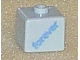 Gear No: bead004pb039  Name: Bead, Square with 'forever' Pattern on two sides