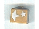 Gear No: bead004pb076  Name: Bead, Square with Silver Stars Pattern (P3110)