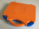 Gear No: 759528c06  Name: Storage Case with Rounded Corners and Orange Lid, Blue Latches