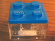Gear No: CndyBxLL  Name: Food - Candy Container Square with Trans Clear Bottom with Legoland Logo Pattern (Legoland California)