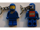 Gear No: KC134  Name: Classic Space Blue Figure Key Chain with LEGO Logo on Back