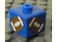 Gear No: bead004pb006  Name: Bead, Square with Football (American) Pattern