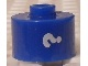 Gear No: bead029pb052  Name: Bead, Cylinder, Flat Edge with White '?' Pattern