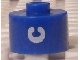 Gear No: bead029pb055  Name: Bead, Cylinder, Flat Edge with White 'C' Pattern